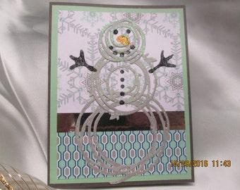 Twirley Bird Snowman