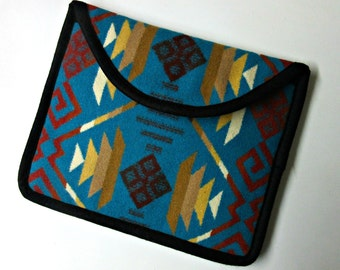 Wool iPad Cover Case iPad Sleeve Padded Blanket Wool from Pendleton Oregon Southwestern Print