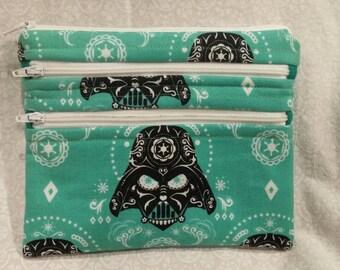 Star Wars Sugar Skull 3 zipper pouch