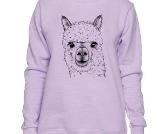 Alpaca Art LADIES Sweatshirt Small - 2XL