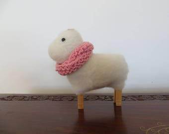 Needle Felted Sheep Clothes Pin Tunis