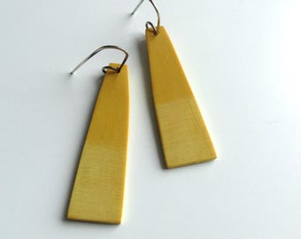 Minimal earrings, geometric jewelry, art jewelry, tropical colors, beach fashion, summer jewelry