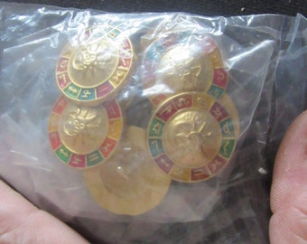 zodiac horn dog clock jar buttons
