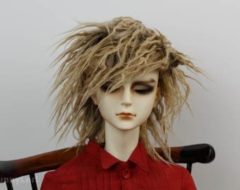 Ragamuffin Wolf Brown doll wig SIZE CHOICE faux fur wig BJD