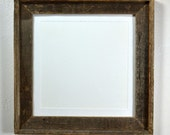 Picture frame 12x12 upcycled wood with mat for 10x10 or 8x8 photo or print 20 mat colors available