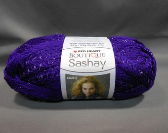 Red Heart Boutique Sashay yarn, PURPLE