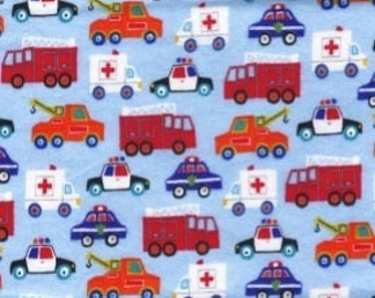 Last Pair EMERGENCY VEHICLE Flannel Pajama/Lounge Pants  Available in children's 0-3 to 4T