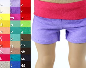 Fits like American Girl Doll Clothes - Yoga Shorts, You Choose Colors