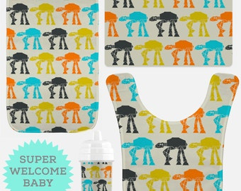 Star wars Baby Set - Baby Bib - Sippy Cup - Baby Burp Cloth -  Child Vinyl Placemat - Christmas gifts - Baby Shower gifts - Birthday gifts
