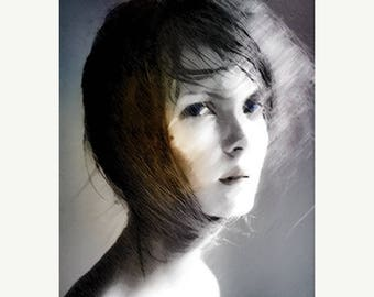 SALE-35% OFF, Art, Photography, Surreal Photography, Woman Portrait, Ethereal Photo Montage, Fine Art Print, Photomontage, Collage, Painted