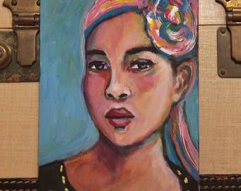 Zoya - Original 5 x 7 inch Portrait Painting