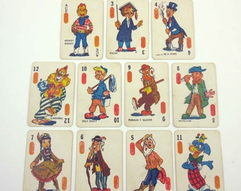 Vintage Howdy Doody Children's Miniature Playing Cards Set of 11