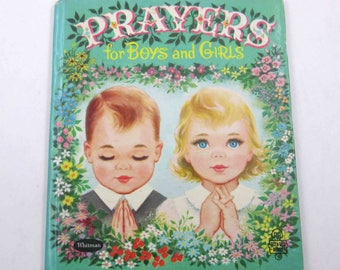 Prayers for Boys and Girls Vintage 1950s Whitman Children's Book