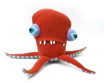 "Plush Sea Creature ""Netty"" Pentapod Cotton Monster"