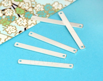10 pieces Long Stick Pendants Silvery finish Finding Charm Pendant (BN412)