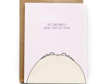 Funny Baby Shower Card - Congratulations New Baby Card - Miracle