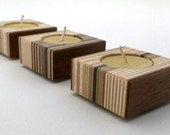 Candle Holders - Modern Home Decor - Beeswax Tea Lights