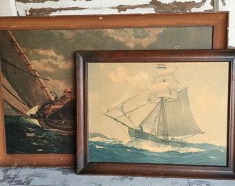 Vintage Nautical Print - Blessing of the Bay by Hunter Wood Lt. USMS