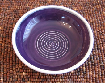 SECONDS Pottery Garlic Grater Dish in Violet Purple - Gourmet Olive Oil Dipping Ceramic Plate