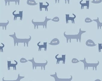 ON SALE Neighborhood by Alyson Beaton for Windham Fabrics Pets Blue