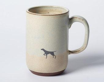 Tall Black Dog Mug
