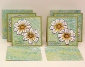 "Daisy Notes For Mom...So Many Smiles...Inside...Set of (4) 3"" x 3"" note cards...4 handmade designer paper envelopes...Stampin'Up! Stamps"