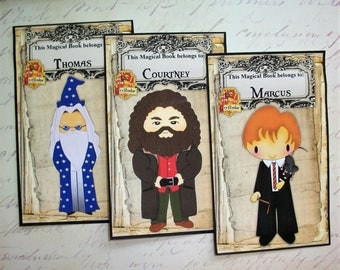 PeRSONALIZED Harry Potter JOURNALS - Shipping included - Party favors - Flexible Paper Covers - Personalization and House Crests - HPJ 9665