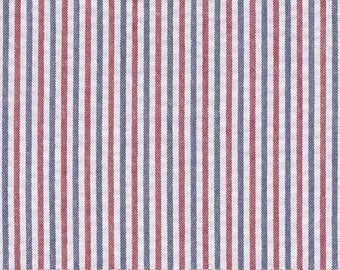 PATRIOTIC SEERSUCKER TABLECLOTH - Red white, and blue,  Cotton, wedding, bridal, baby shower, All shapes,  Memorial day, independence day