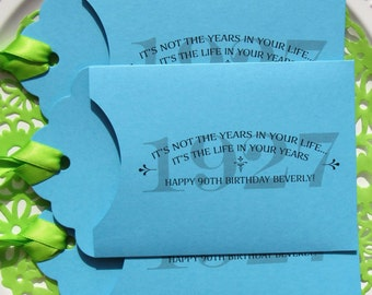 Adult Birthday Favor - 1927 - Adult Birthday Birthday -  Lottery Favors - Lottery Ticket Gift - Lotto Ticket Favor - 90th Birthday