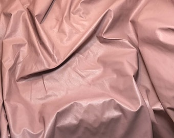 Dusty Pink Faux LEATHER Fabric - 1 Yard