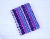 Hand woven kitchen towel, purple