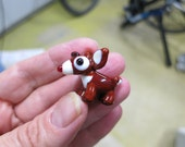 RESERVED for Tim - Rafael the Red-Nosed Reindeer Lampwork Bead