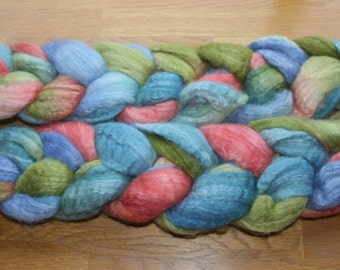 Blueface Leicester Tussah Silk Spinning Fiber - 'Let's Dance'