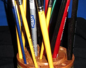 21 Brush/Pencil Holder – Poplar and Cherry 17-17
