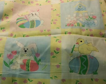 happy easter print fabric