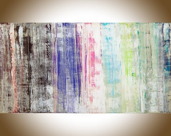 Abstract painting large wall art Original artwork home decor wall decor wall hanging painting on canvas shabby chic by qiqigallery