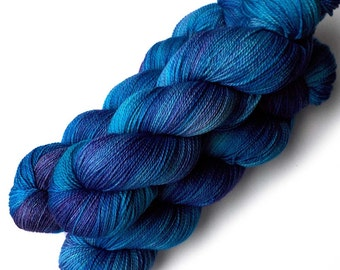 Lace Merino, Cashmere and Nylon Yarn - Polar Blues, 560 yards
