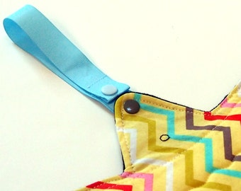 Cloth Menstrual Pad Drying Straps - set of 2 in your choice of color - hang your pads to air dry!