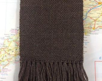 taupe solid: handwoven scarf