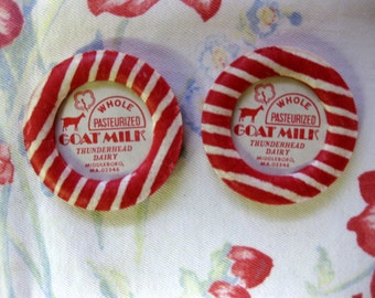 Vintage Thunderhead Milk Bottle Caps, Ephemera, Retro Kitchen, Farm, Goat/Dairy Ephemera, Valentine Ephemera