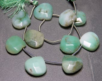 Chrysoprase Teardrops Faceted Puffed - 18x17mm Full Strand