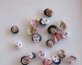 19 Handmade lampwork multicultural face murrini slices 104 coe - SRA free postage NM G02