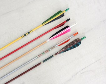 Set of 5 Colorful Vintage Arrows