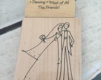 Wedding Engagement Anniversary Rubber Stamp