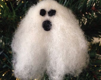 Needle Felted Ghost Ornament Small