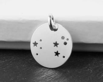 Sterling Silver Leo Constellation Pendant 18mm (CG9610)