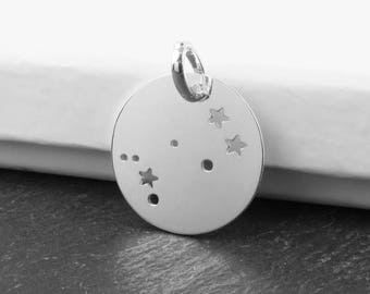 Sterling Silver Gemini Constellation Pendant 18mm (CG9611)