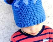 Crocheted PJ Masks Hat. Catboy. Beanie.