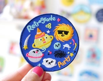 Retrograde Party - Space Iron On Patch