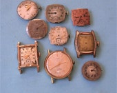Antique Vintage Watch Parts Watch Movements Destash Lot Steampunk Gears Old Watch Parts